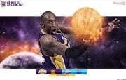 NBA季后赛湖人队宽屏壁纸 体育壁纸