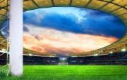 世界杯主题宽屏壁纸 足球场 世界杯主题CG设计壁纸 世界杯主题宽屏壁纸 体育壁纸