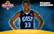NBA 印第安纳步行者队2008 09赛季官方桌面壁纸 Danny Granger All Star图片壁纸 印第安纳步行者队200809赛季壁纸 体育壁纸