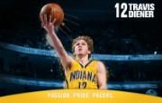 NBA 印第安纳步行者队2008 09赛季官方桌面壁纸 Travis Diener图片壁纸 印第安纳步行者队200809赛季壁纸 体育壁纸