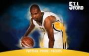 NBA 印第安纳步行者队2008 09赛季官方桌面壁纸 T J Ford图片壁纸 印第安纳步行者队200809赛季壁纸 体育壁纸