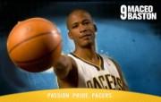 NBA 印第安纳步行者队2008 09赛季官方桌面壁纸 Maceo Baston 图片壁纸 印第安纳步行者队200809赛季壁纸 体育壁纸