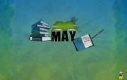 2010年4月月历原图宽屏壁纸 壁纸3 2010年4月月历原 系统壁纸
