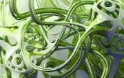 3D立体抽象设计宽屏 系统壁纸
