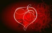 爱的心形矢量宽屏壁纸 系统壁纸