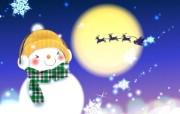 可爱温馨圣诞插画宽屏壁纸 壁纸23 可爱温馨圣诞插画宽屏 系统壁纸