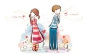 小情侣情人节爱情宽屏卡通壁纸 壁纸16 小情侣情人节爱情宽屏 系统壁纸