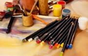 画笔颜料 2 2 画笔颜料 炫彩壁纸