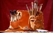 画笔颜料 1 11 画笔颜料 炫彩壁纸