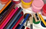 画笔颜料 1 4 画笔颜料 炫彩壁纸