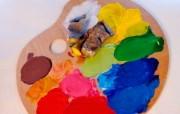 画笔颜料 1 1 画笔颜料 炫彩壁纸