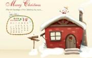 2009年12月份月历壁纸 12月圣诞月历 12月卡通圣诞月历壁纸 2009年12月份圣诞节月历壁纸 月历壁纸