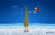 圣诞节插画月历壁纸 1920 1200 2009年12月圣诞节月历壁纸 月历壁纸