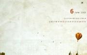 韩国Cyworld 6月月历 2009年6月月历壁纸 月历壁纸