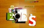 2010年1月月历宽屏壁纸 壁纸21 2010年1月月历宽 月历壁纸