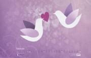 2010年2月份情人节月历 壁纸 2月份情人节月历 壁纸 2010年2月份情人节主题月历 月历壁纸
