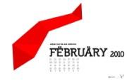 2010年2月月历宽屏壁纸 壁纸3 2010年2月月历宽 月历壁纸