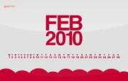 2010年2月月历宽屏壁纸 壁纸21 2010年2月月历宽 月历壁纸