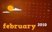 2010年2月月历宽屏壁纸 壁纸49 2010年2月月历宽 月历壁纸