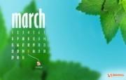 2010年3月份宽屏月历壁纸 壁纸9 2010年3月份宽屏 月历壁纸