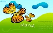 2010年3月份宽屏月历壁纸 壁纸11 2010年3月份宽屏 月历壁纸