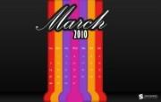 2010年3月份宽屏月历壁纸 壁纸13 2010年3月份宽屏 月历壁纸