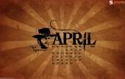 2010年四月宽屏月历 壁纸 2010年4月份宽屏月历 月历壁纸