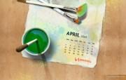 2010年4月份CG设计宽屏月历 2010年4月份宽屏月历 月历壁纸