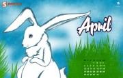 2010年4月份 复活节壁纸 2010年4月份宽屏月历 月历壁纸
