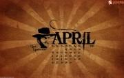 2010年4月月历宽屏壁纸 壁纸14 2010年4月月历宽 月历壁纸