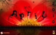 2010年4月月历宽屏壁纸 壁纸17 2010年4月月历宽 月历壁纸