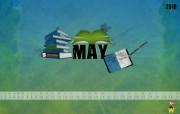 2010年5月份月历壁纸 5月份宽屏月历壁纸 电脑设计月历 2010年5月份月历壁纸 月历壁纸