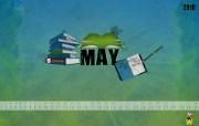 2010年五月月历 5月月历宽屏壁纸 壁纸5 2010年五月月历 月历壁纸