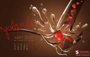 2010年五月月历 5月月历宽屏壁纸 壁纸7 2010年五月月历 月历壁纸