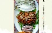 2月月历 韩式美食桌面壁纸 YAHOO韩国二月月历壁纸 月历壁纸