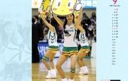 9月壁纸 啦啦队表演桌面壁纸 YAHOO韩国九月月历壁纸 月历壁纸