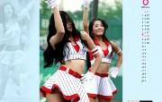 6月壁纸 啦啦队表演桌面壁纸 YAHOO韩国六月月历壁纸 月历壁纸