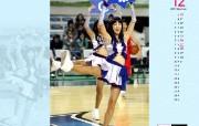 12月月历 啦啦队桌面壁纸 YAHOO韩国十二月月历壁纸 月历壁纸