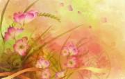 高清晰炫彩花卉面壁纸 植物壁纸